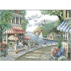 クロスステッチ刺繍キット DMC刺繍糸 ヨーロッパ湖畔小店 HD2100B