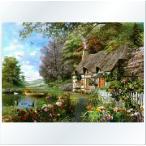クロスステッチ刺繍キット DMC刺繍糸 花園小屋 図柄印刷
