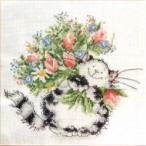 クロスステッチ 刺繍キット flowers for you  (DMC刺繍糸)クロスステッチキット クロスステッチ ししゅう糸 刺繍糸 刺繍針 刺繍キット