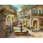ししゅう糸 DMC糸 クロスステッチ刺繍キット 布地に図柄印刷 ヨーロッパ風景 (6)