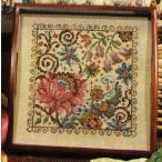 クロスステッチ 刺繍キット vintage floral (DMC刺繍糸) 301