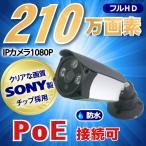 防犯カメラ SONY製 210万画素 PoE IP(LAN接続)1台 1080P フルHD 高画質 監視カメラ 屋外 屋内 赤外線 夜間撮影 3.6mmレンズ