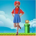 ショッピングハロウィン ハロウィン コスプレ コスチューム スーパーマリオ風 supermario マリオ風 Mario 子供用 セット ゲーム 変装  パーティー 大人気