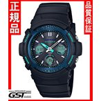 Gショック カシオ AWG-M100SF-1BJR ソーラー電波腕時計「ファイアー・パッケージ」メンズ(黒色〈ブラック〉)