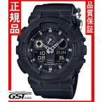 限定 Gショック カシオ GA-100BBN-1AJF ミリタリーブラック 腕時計「G-SHOCK」メンズ(黒色〈ブラック〉)