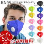 KN95 カラフルマスク 排気バルブ付き 1枚入り ( 排気弁 N95 N95マスク バルブ マスク 呼吸 バルブ付き 立体マスク )