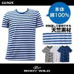 GUNZE(グンゼ)/BODY WILD(ボディワイルド)/クルーネックTシャツ(紳士)/BWB913