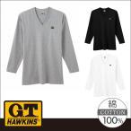 GUNZE(グンゼ)/G.T.HAWKINS(GTホーキンス)/Vネックロングスリーブシャツ(V首)(紳士)/年間シャツ/HK2109