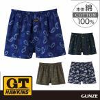 GT ホーキンス G.T.HAWKINS GUNZE(グンゼ)/G.T.HAWKINS(GTホーキンス)/トランクス(前あき)(紳士)/年間パンツ/HK9516