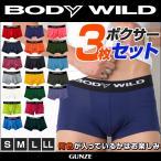 Yahoo!グンゼオンラインショップYahoo!店GUNZE(グンゼ)/BODY WILD(ボディワイルド)/ネット限定お得セット カラーローライズボクサーパンツ3点セット(紳士)/BW2995P