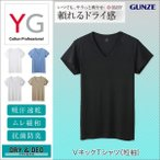 ショッピンググンゼ グンゼ YG Tシャツ V首 吸汗速乾 ドライ DRY&DEO GUNZE/VネックTシャツ(短袖)(紳士)/YV0117N