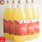 りんごジュース 青森 送料無料 1L×6本 100% 加納りんご農園 リンゴジュース 青森 りんご サンふじりんご サンフジりんご 青森 アップルジュース