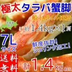ショッピングかに タラバガニ 脚 1肩 約1.4kg ボイル 冷凍 7L サイズ 北海道加工 (たらば 蟹 かに カニ) 送料無料