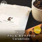コーヒー豆 送料無料 珈琲豆 おてがるパックmini ブラジル キャラメラード 200g 約20杯分 コーヒー 豆 焙煎後すぐ発送 中深煎り