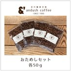 ポイント消化 お試し コーヒー豆 送料無料 珈琲豆 おためし セット コーヒー 豆 5種で250g