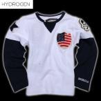 ハイドロゲン(HYDROGEN) キッズ ロング Tシャツ 14B008 001  DB14S