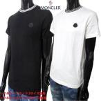 モンクレール(MONCLER) メンズ トップス Tシャツ 半袖 2color チェスト部分ロゴ・バックトリコロールタグ付きTシャツ 白/黒 (R35200) 02S