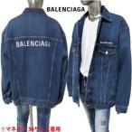 バレンシアガ BALENCIAGA メンズ アウター ボタンロゴ刻印・チェスト/バックBALENCIAGAロゴ刺繍付きオーバーサイズデニムジャケット (R147400) 02A