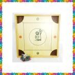 【日本カロム協会公認】スリム型カロム盤(厚さ3cm)玉29個付き