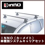 【L150/L160系ムーヴ専用システムキャリア】 INNO(カーメイト) 年式H14.10〜H18.10 [INSUT+K280+INB117]ルーフレール無