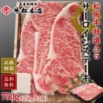 松阪牛 A5 サーロイン ステーキ 250g × 3枚 高級 桐箱 冷蔵 松坂牛 肉 牛肉 和牛 ギフト 内祝い お返し 送料無料