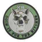 ベルクロワッペン 警察犬 K-9 PVC 緑 パッチ