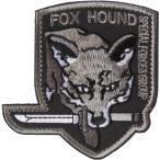 ベルクロワッペン メタルギアソリッド Fox Hound 盾型灰