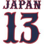 スポーツ書体 英字 数字 ワッペン 6〜23cm 背番号 チームロゴ(国産高品質)【ゆうパケット対象商品】