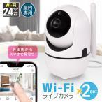 2個セット 見守りカメラ ペットカメラ ベビーカメラ 防犯カメラ 200万画素  ベビーモニター ペットモニター  wifi 監視カメラ 自動追跡 日本語アプリ 技適