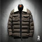 中綿ジャケット メンズ アウトドア オリーブ ライトアウター 中綿コート ジップアップ フード付き キルティング かっこいい 冬物