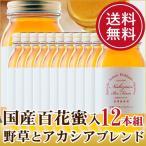 はちみつ 蜂蜜 ハチミツ 国産百花蜜入 野草とアカシアのオリジナルブレンドはちみつ1ケース(1kg×12本)