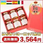 はちみつ 蜂蜜 ハチミツ 純粋はちみつヨーロッパ紀行(110g×6本) 送料無料 お歳暮ギフト