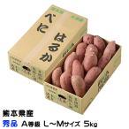 さつまいも 紅はるか 秀品 A等級  L〜Mサイズ 5kg 熊本県 大津産 JA菊池 べにはるか 蜜芋