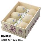 メロン クラウンメロン 静岡県産  白等級 6玉 約8kg  母の日 ギフト 送料無料