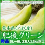 (送料無料)  熊本県(八代産) 『肥後グリーン』 特大玉 5L〜6Lサイズ  2玉入り(約5.0kg)