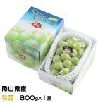 ぶどう シャインマスカット 晴王 特秀 800gx1房 岡山県産 JAおかやま 葡萄 ブドウ