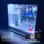 コレクションラック DIO ディオ 本体 ワイド ロータイプ 鍵付 幅90cm 奥行28cm 中型