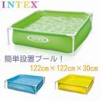 INTEX インテックス ミニフレームプール 幼児用 子供用プール ビニールプール 空気入れ不要 簡単設置