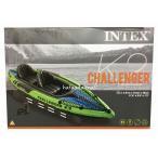 インテックス INTEX CHALLENGER K2 チャレンジャー 2人乗りカヤック 351cm×76cm×38cm オール2本とポンプ付き コストコ カークランド