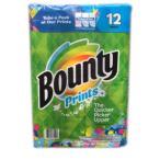 バウンティ キッチンペーパータオル 12メガロール 2枚重ね Bounty 柄あり カークランド コストコ キッチンペーパー