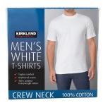 残りわずか!早い者勝ち!カークランドシグネチャー メンズ クルーネック Tシャツ 6枚組 ホワイト コストコ