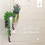 観葉植物 光触媒加工 エアプランツ 人工観葉植物 ハンギングプランター 吊り下げ植物 造花 小サイズ 全5種