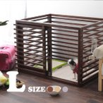 小型犬用 ケージ wan cage (ワンケージ)Lサイズ 犬用 ゲージ サークル 木製 超小型犬 ペット用品 室内用
