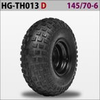 四輪バギー ATV ホイール付タイヤ 6インチ 145/70-6 HG-TH013 ハイガー産業 D