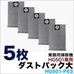 業務用掃除機 HG501専用 ダストパック 大 5枚組 HG501-P53
