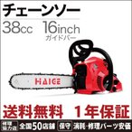 (正規品 1年保証) チェーンソー ( チェンソー ) 16インチ 38cc HG-TM53800