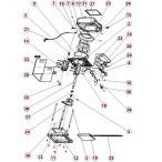 HAIGE かき氷機ZC168 部品番号34.38番一式 HG-ZC168-P3438ASSY