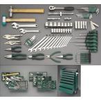 エスコ:[83個組]ツールワゴン付工具セット(トレー入) 型式:EA689SW
