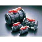旭有機材工業 ボールバルブ21型(接続 フランジ形 ボディ材質 C-PVC Oリング材質 FKM) 21型-100-C-PVC/FKM(フランジ 10K)
