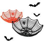 【売りつくしセール】ハロウィングッズ お皿  スパイダー トレイ クモの巣